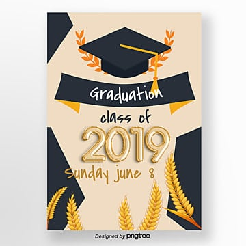 brief about 2019 graduation hat template Template