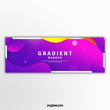 colour gradual fluid border decoration e commerce banner Template