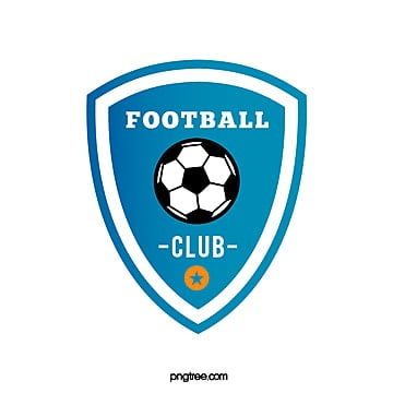 gradual blue shield football club logo Template