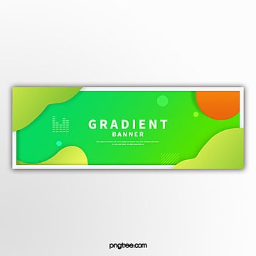 green gradient fluid border decoration e commerce banner Template
