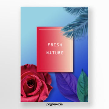 propaganda template for realistic plant gradient posters Template