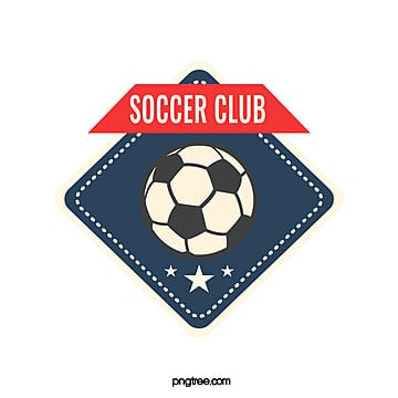 simple diamond shaped dark blue football club logo Template