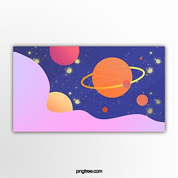 yellow gradient banner in outer space Template