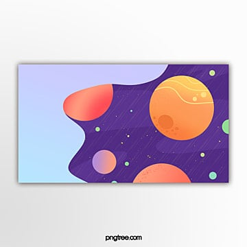 yellow gradual planet banner in outer space Template