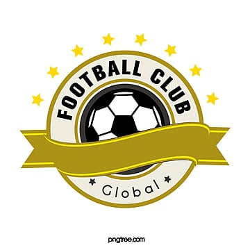 yellow retro round football club logo Template