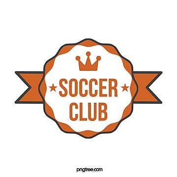 yellow wave banner football club logo Template