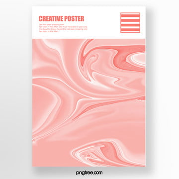 Pink Simple Melting Gradual Fluid Liquid Marble Art Poster living coral coral Template