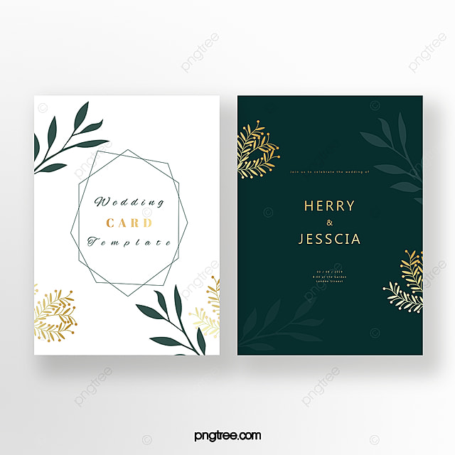 Emerald Invitation Card Template For Free Download On Pngtree