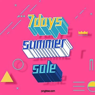 7 day summer promotion advertising template Template