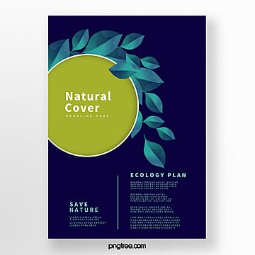 Blue Tech Bio Business Cover Template