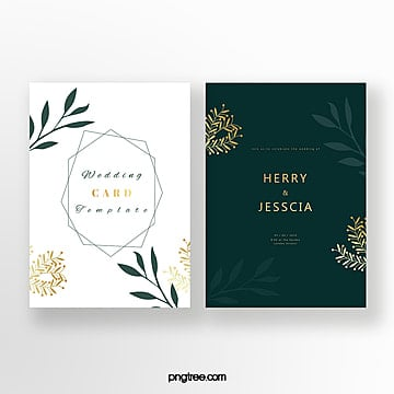 emerald invitation card Template