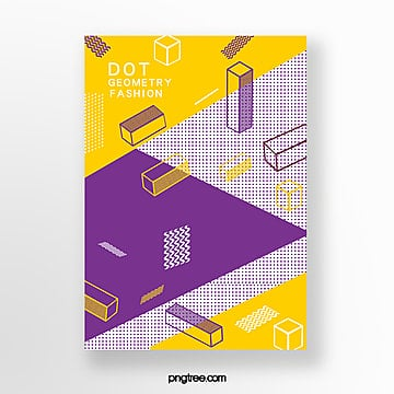 fashion perspective stereo geometry point poster Template