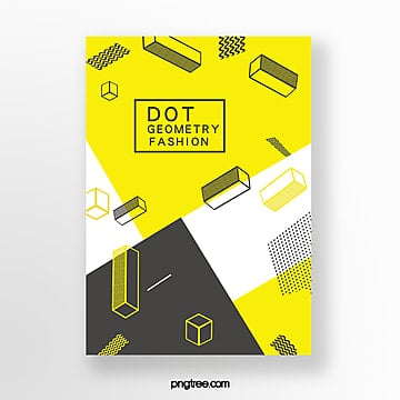 fashionable geometric dot posters Template