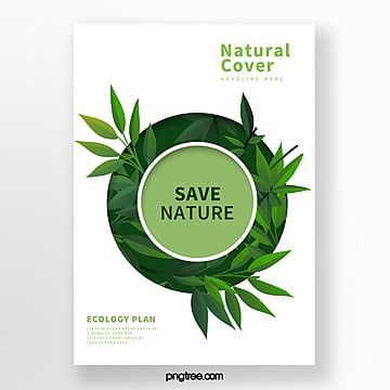 Green and Simple Biotechnology Business Cover Template