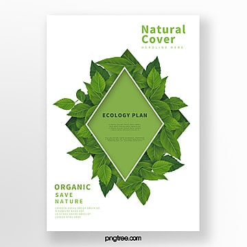 simple green biotechnology business cover Template