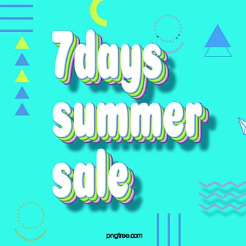summer 7 promotional advertisement Template