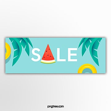 template for blue tropical leaf fruit promotion volume Template