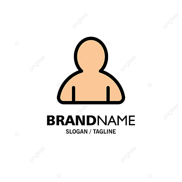 Account Avatar User Business Logo Template Flat Color