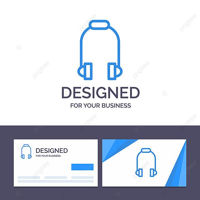 Kreative Visitenkarte Und Logo Vorlage Kopfhörer Kopfhörer