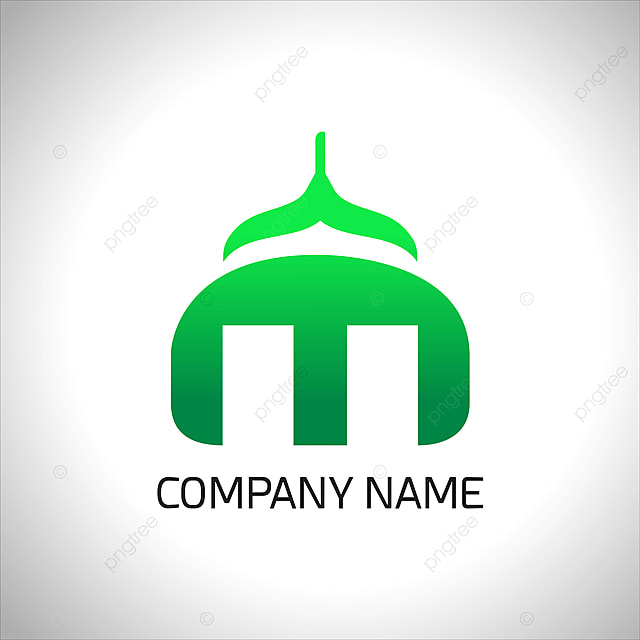 The Mosque Ramadan Logo Template Luxury:  Logo Of Mosque With Green Color You Can Use For Logo Of