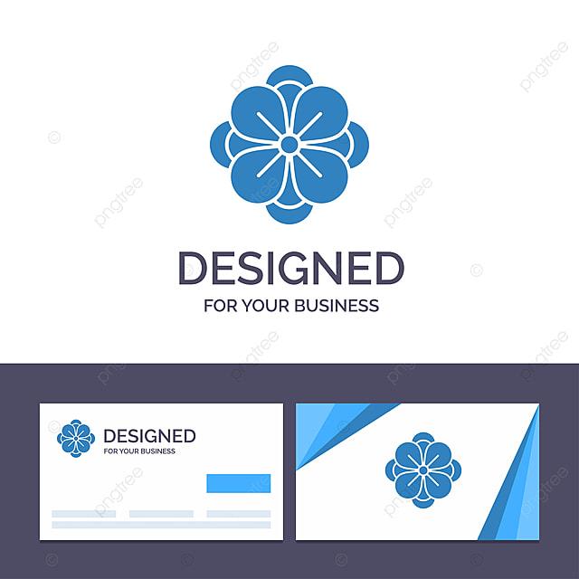 Blüten Von Anemonen Kreative Visitenkarte Und Logo Vorlage