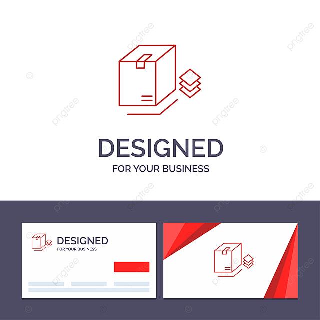 Kreative Visitenkarte Und Logo Schablone Box Verpackung