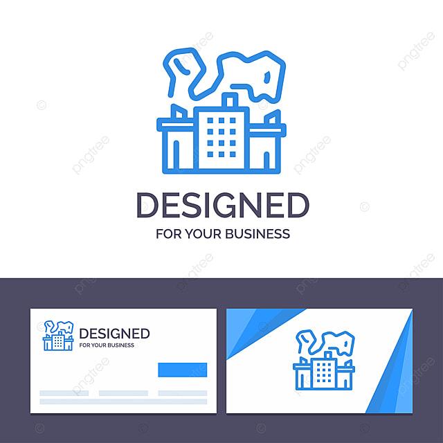 Fabrik Für Kreative Visitenkarte Und Logo Schablone