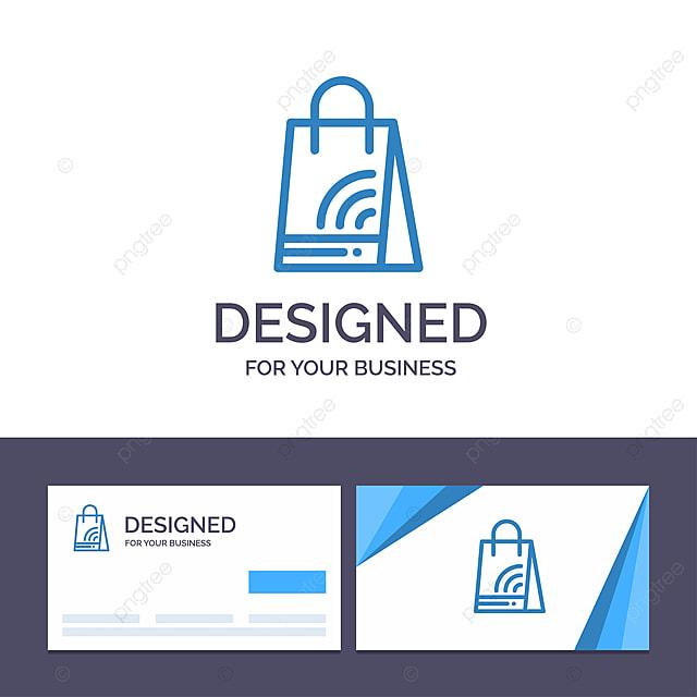 Kreative Visitenkarte Und Logo Schablone Tasche Handtasche