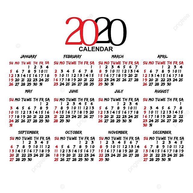 Calendario 216.Calendario 2020o Modelo Para Download Gratuito No Pngtree