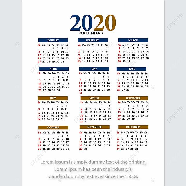Calendrier 2020 Vectoriel Gratuit.Agenda 2020 Vector Conception Modele De Telechargement