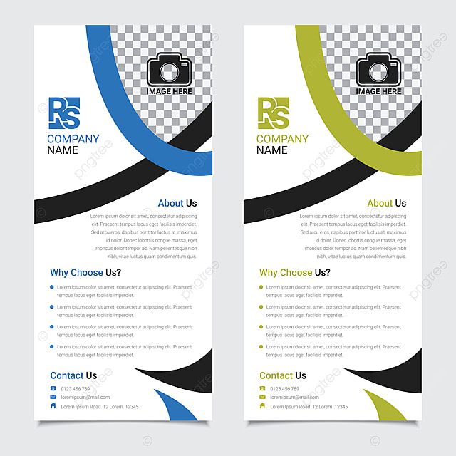 Corporate Business Roll Up Banner Template Set Vector Design