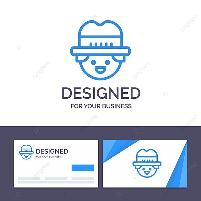 Kreative Visitenkarte Und Logo Vorlage Landwirt Gärtner Mann