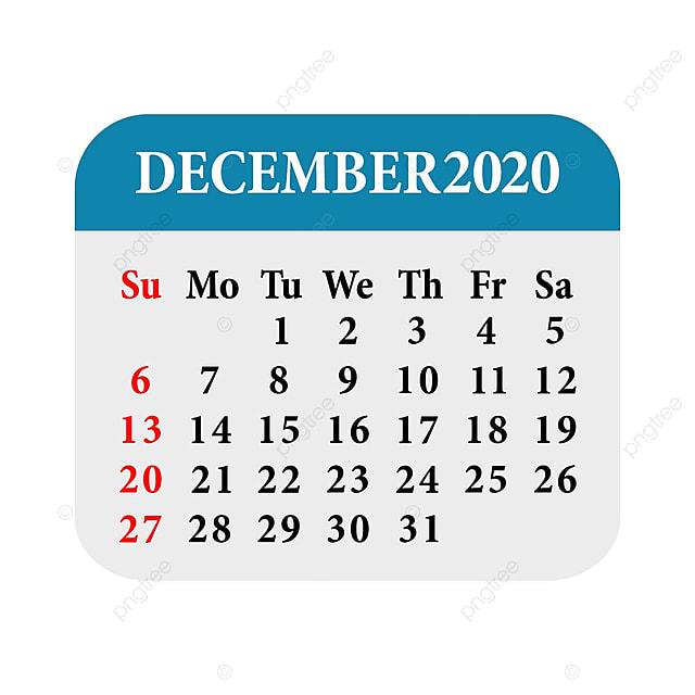 Calendrier De Decembre 2020.Decembre Calendrier 2020 Modele De Telechargement Gratuit