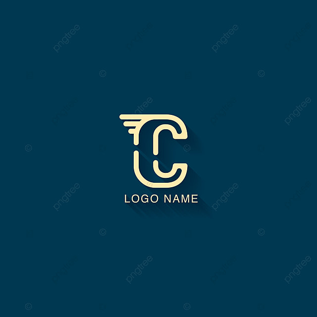 Initial Letter C Logo Design With One Line Concept Modern