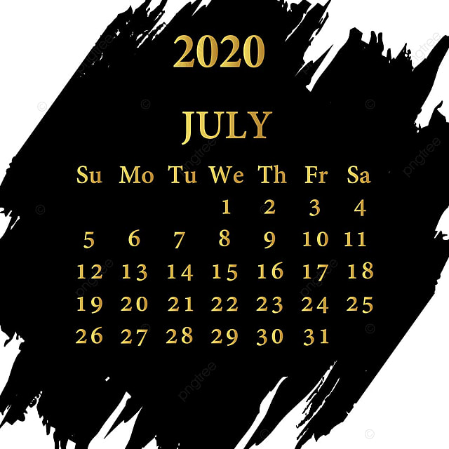 July Calendar 2020 Template for Free Download on Pngtree