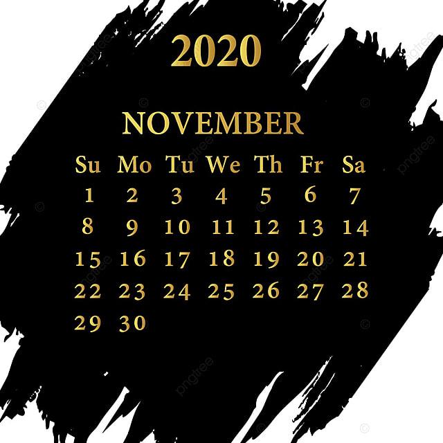 تشرين الثاني نوفمبر تقويم عام 2020 قالب تحميل مجاني على ينغتري