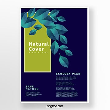 blue biotechnology business cover Template