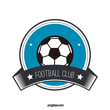 blue black round football club logo Template
