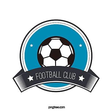 blue black round football club logo Template