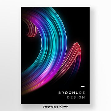 business gradient 3d stereo poster Template