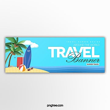 cartoon simple travel theme page banner Template