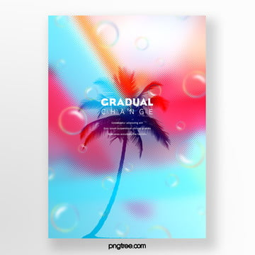 color halo gradual palm projection poster Template