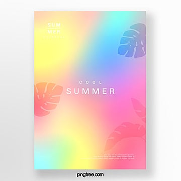 Color holographic plant projection Poster Template