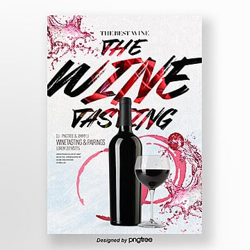 Design of Flyers for Fashion Luxury Wine Tasting Party Template