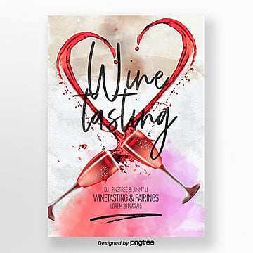 Design Template of Flyer for Fashion Wine Tasting Activities Template