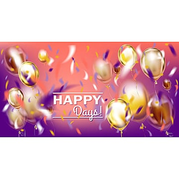 disco party violet image with matallic balloons and foil confett, Glance, Fringe, Metallic PNG and Vector
