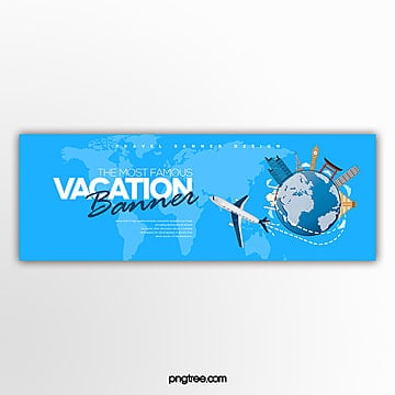 fashion cartoon simple web travel page banner Template