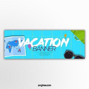 fashion simple cartoon website travel theme banner Template