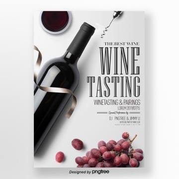 fashionable and simple red wine tasting activity flyer design Template
