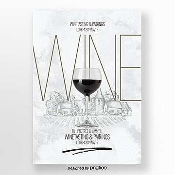 fashionable  simple and high end red wine tasting activity flyer Template